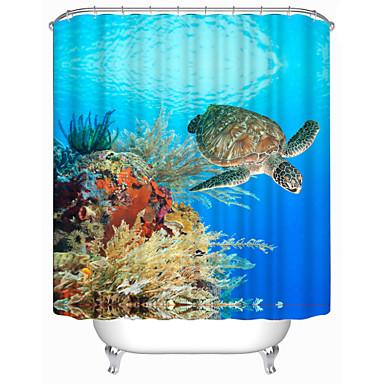 1pc Duschvorhänge Modern Polyester Cartoon Design Wasserfest Bad