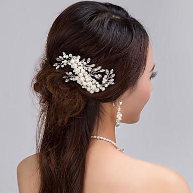 Pérola Pentes de cabelo 1 Casamento / Ocasião Especial Capacete