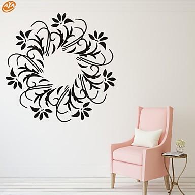 Romance / Moda / Floral Wall Stickers Autocolantes de Aviões para Parede,PVC S:35*35cm/ M:42*42cm L:55*55cm