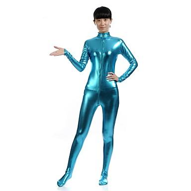 Zentai asut Ninja Zentai Cosplay-asut Sininen Yhtenäinen Trikoot/Kokopuku Zentai Kissapuku Spandex Kiiltävä metallinen Unisex Halloween