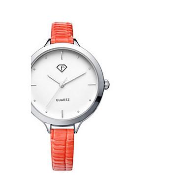 Mulheres Relógio de Moda Quartzo Impermeável Couro Banda Preta Branco Vermelho