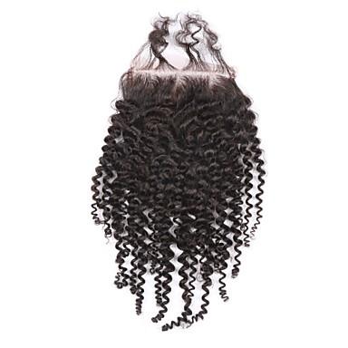 Kinky Curly Zatvaranje Crna Švicarska mrežica 60g gram Cap Veličina