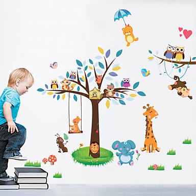 애니멀 / 풍경 벽 스티커 플레인 월스티커,pvc 60*90cm