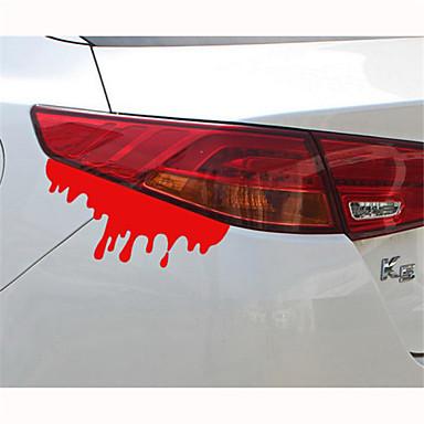 14 * 5cm reflekterende blødning personaliserthet bil klistremerker (1-pakning)