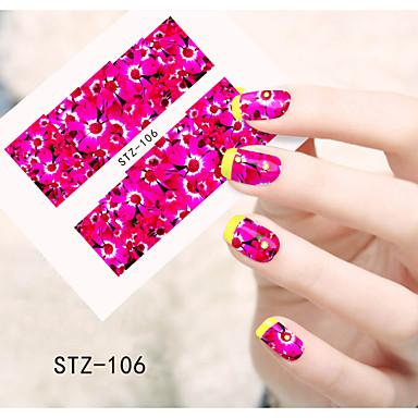1pcs 아트 스티커 네일 물 이동 스티커 꽃 카툰 러블리 메이크업 화장품 아트 디자인 네일