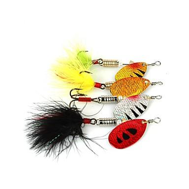 4 kpl Uistin Metallivieheet Metalli Virvelöinti Makean veden kalastus Yleinen kalastus Viehekalastus Ahvenen kalastus