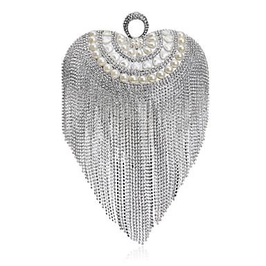 Damen Taschen Polyester Abendtasche Crystal / Strass für Hochzeit / Veranstaltung / Fest / Formal Gold / Schwarz / Silber