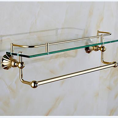 Suihkukori / Kylpyhuoneen laitteet Ti-PVD Seinään asennettu 20.5*4.2*5.9 inch Messinki Moderni