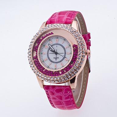 Damen Armbanduhr Modeuhr Quartz / Armbanduhren für den Alltag PU Band Freizeit Schwarz Weiß Blau Rot Braun Lila Rose