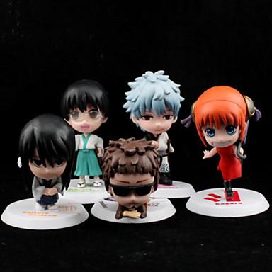 Anime Toimintahahmot Innoittamana Gintama Cosplay PVC 6.5 CM Malli lelut Doll Toy
