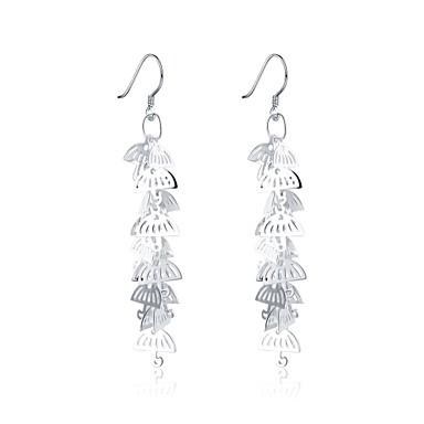 Dame Dråpeøreringer - Sølvplett Europeisk, søt stil Sølv Til Avslappet