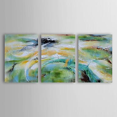 Handgemalte Landschaft Horizontal, Modern Segeltuch Hang-Ölgemälde Haus Dekoration Drei Paneele