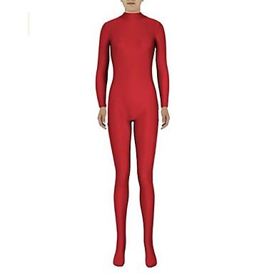 Ternos Zentai Ninja Fantasia Zentai Fantasias de Cosplay Vermelho Sólido Collant/Pijama Macacão Fantasia Zentai Elastano Licra Unisexo