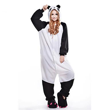 Kigurumi-Pyjamas Panda Pyjamas-Einteiler Kostüm Polar-Fleece Weiß Cosplay Für Erwachsene Tiernachtwäsche Karikatur Halloween Fest /