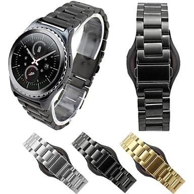 Uhrenarmband für Gear S2 Classic Samsung Galaxy Klassische Schnalle Edelstahl Handschlaufe
