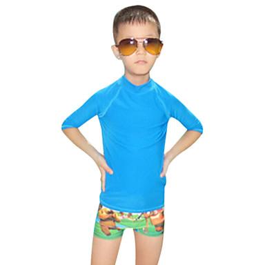 Lasten Dive Skins Ultraviolettisäteilyn kestävä Chinlon Märkäpuku Pitkähihainen Sukelluspuvut Uima-asut Rash guard -suojapaita Topit-