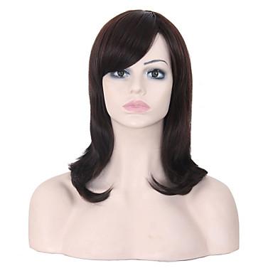 pitkä kesto suorat hiukset eurooppalainen kutoa monivärinen hiukset synteettinen peruukki