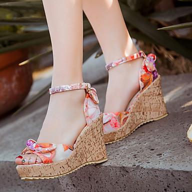 Semicuero Tacón Plataforma Mujer Zapatos Primavera Verano Otoño Cuña bfY76gy