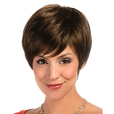 Synthetic Hair Wigs Straight Carnival Wig Halloween Wig Short Brown