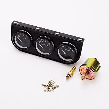 iztoss 52mm triple gauge 3 u 1 (voltmetar + voda temp kolosijek + ulje press gauge) 52mm senzor auto metar mjerilo automobila
