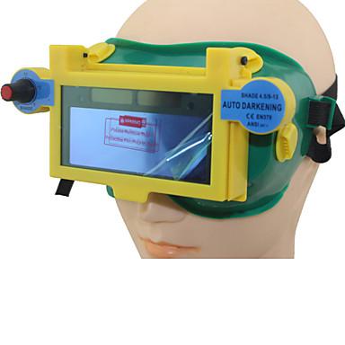 미그 MMA 용접기 눈 마스크 / 고글 / 눈 안경 TIG 용접 도구 파란색 태양 전지 리튬 배터리 자동 어둡게