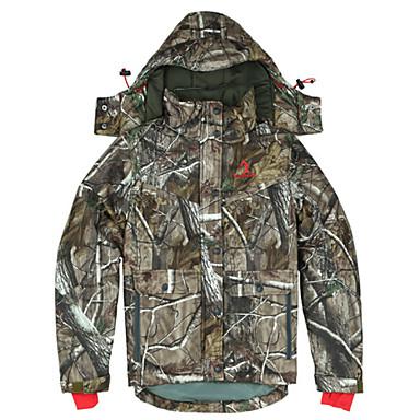 Jaqueta Camuflada de Caçador Homens Mulheres Térmico / Quente Respirável Blusas para Acampar e Caminhar Caça Pesca