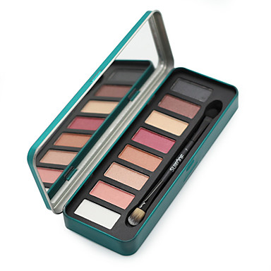 8 cores Olhos Combinação / Secos / Normal Sombra para Olhos / Pós Pó Maquiagem para o Dia A Dia / Maquiagem para Dias das Bruxas / Maquiagem de Festa / Brilho