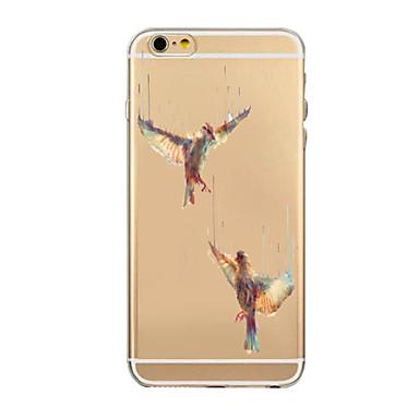 Varten iPhone 6 kotelo iPhone 6 Plus kotelo kotelot kuoret Läpinäkyvä Kuvio Takakuori Etui Eläin Pehmeä TPU varteniPhone 6s Plus iPhone 6