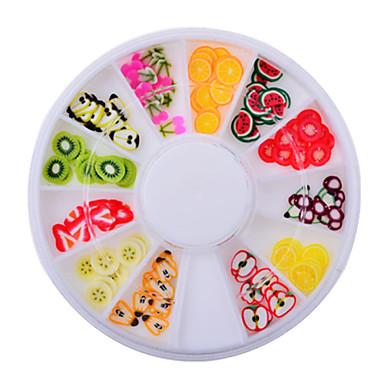 Nail Jewelry-Lovely-Sormi-Akryyli-6cm wheel-1wheel fruit fimo nail decorations
