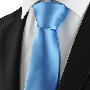 Krawatte(Hellblau,Polyester)Einfarbig