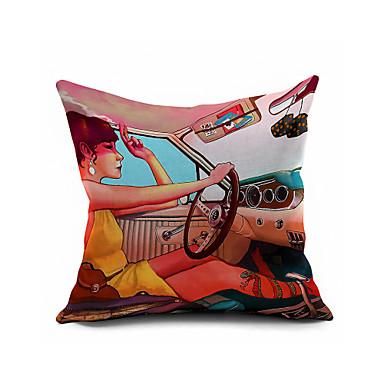 Puuvilla/pellava Tyynynpäälinen,Geometrinen Moderni/nykyaikainen