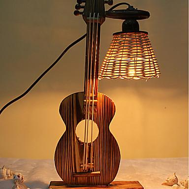 kreative Holz für Kind die Geige Behälter Dekoration Schreibtischlampe Schlafzimmerlampe Geschenk