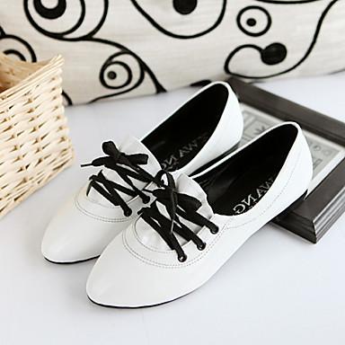 Oxford-kengät-Matala korko-Naisten kengät-Kiiltonahka-Musta / Pinkki / Valkoinen-Rento-Comfort / Nilkkahihna