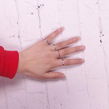 abordables Bague-Anneau Alliance Bague Alliage dames Européen Style Simple Ouvert Bagues Tendance Bijoux Argent Ajustable pour Quotidien Décontracté Sports