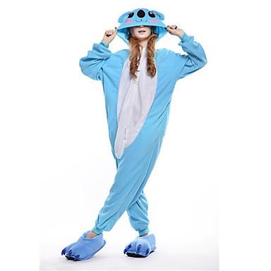 Kigurumi-pyjamas Koala Onesie-pyjamas Kostume Polarfleece Blå Cosplay Til Voksne Nattøj Med Dyr Tegneserie Halloween Festival / Højtider
