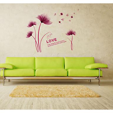 Asetelma Kukkakuviot Maisema Wall Tarrat Lentokone-seinätarrat Koriste-seinätarrat materiaali Irroitettava Siirrettävä Kodinsisustus