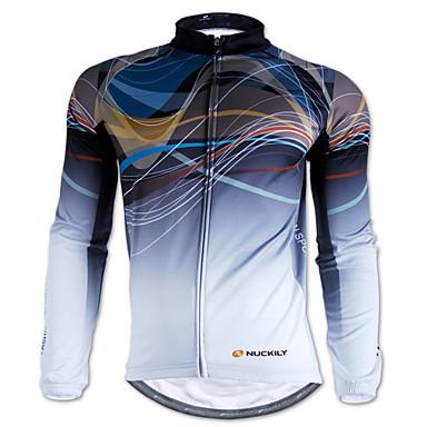 NUCKILY® Biciklistička majica Muškarci Dugi rukav BiciklVodootpornost / Ugrijati / Vjetronepropusnost / Otporno na kišu / Reflektirajuće