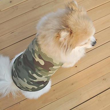 개 조끼 캐모플라지 색상 강아지 의류 여름 / 모든계절/가을 위장 패션