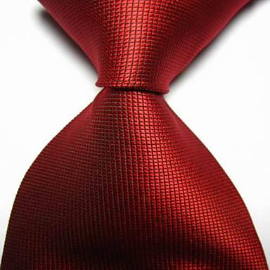גברים של אופנה אדום ארגמן בדק אקארד ארוגים עניבה עניבה