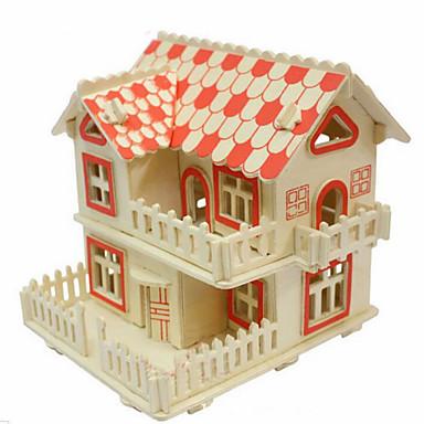 Palapelit 3D palapeli Puiset palapelit Rakennuspalikoita DIY lelut Talo Puu