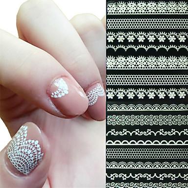3D Nail Stickers-Muuta-Abstrakti / Häät-Sormi-10X7X0.7-6