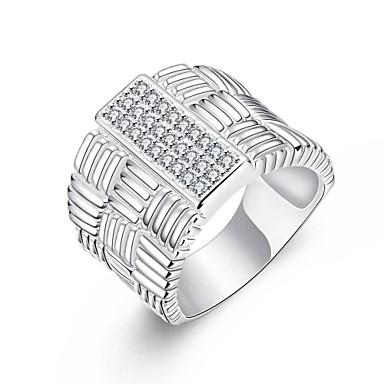 Feminino Maxi anel bijuterias Prata Chapeada Jóias Para Festa Diário Casual
