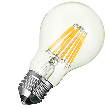 e26 / e27 led filament lampen einbau nachrüstsatz 8 cob 600-700lm warmweiß kaltweiß 3000-6500 k dekorative ac 85-265 v