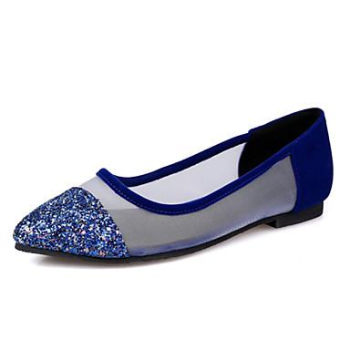 Naiset Kengät Glitter Kevät Kesä Syksy Tasapohja Käyttötarkoitus Kausaliteetti Puku Juhlat Musta Sininen