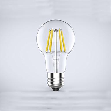 E26/E27 Lâmpadas de Filamento de LED A60(A19) 6 leds COB Impermeável Decorativa Branco Quente 600lm 2700K AC 85-265V