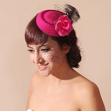 נשים נערת פרחים נוצה קטיפה רשת כיסוי ראש-חתונה אירוע מיוחד Birdcage Veils חלק 1