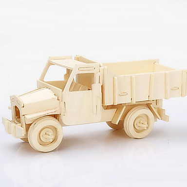 מכוניות צעצוע פאזלים3D פאזל פאזלים מעץ מודל עץ רכב בנייה צעצועים משאית עץ חתיכות