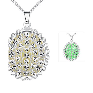 שרשראות שרשראות תליון תכשיטים חתונה / Party / יומי סגסוגת / מצופה כסף כסף / כחול / ירוק / סגול 1pc מתנות