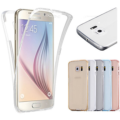 מגן עבור Samsung Galaxy Samsung Galaxy S7 Edge שקוף כיסוי מלא צבע אחיד TPU ל S7 edge S7 S6 edge S6