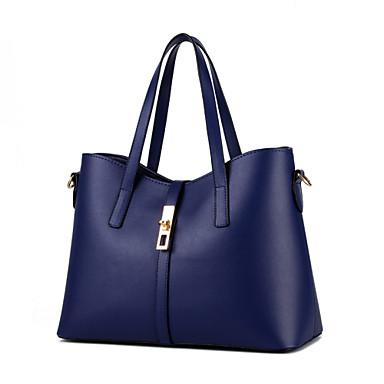 여성제품 PU 정장 캐쥬얼 야외 사무실 & 커리어 쇼핑 숄더 백 토트백 그린 블루 핑크 와인 밝은 블루